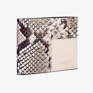 Tory Burch Block-T Travel Foldable Card Case
